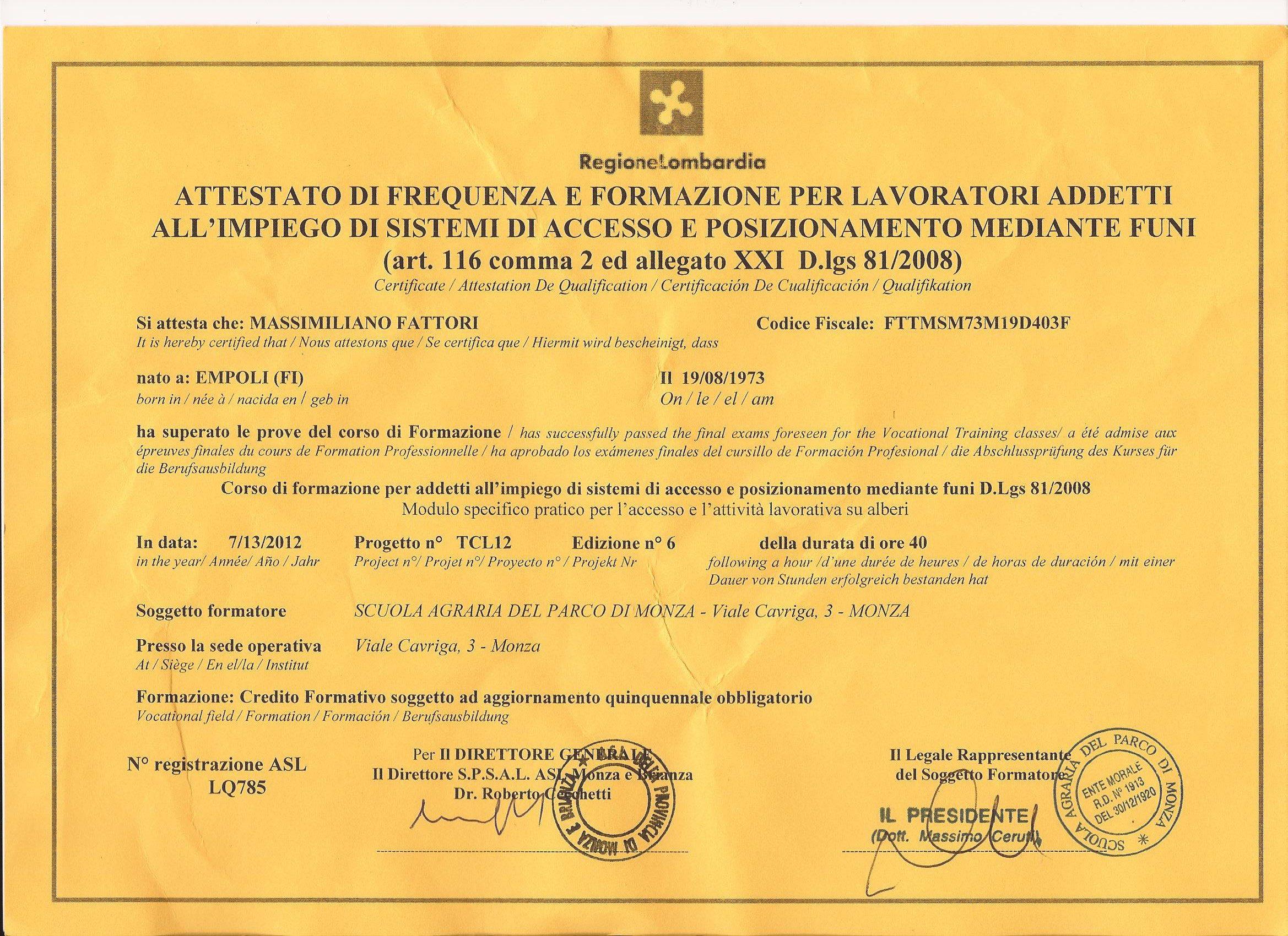 certificazione per lavori su fune 001